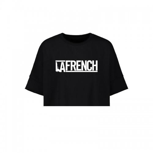 Crop Top Black La French