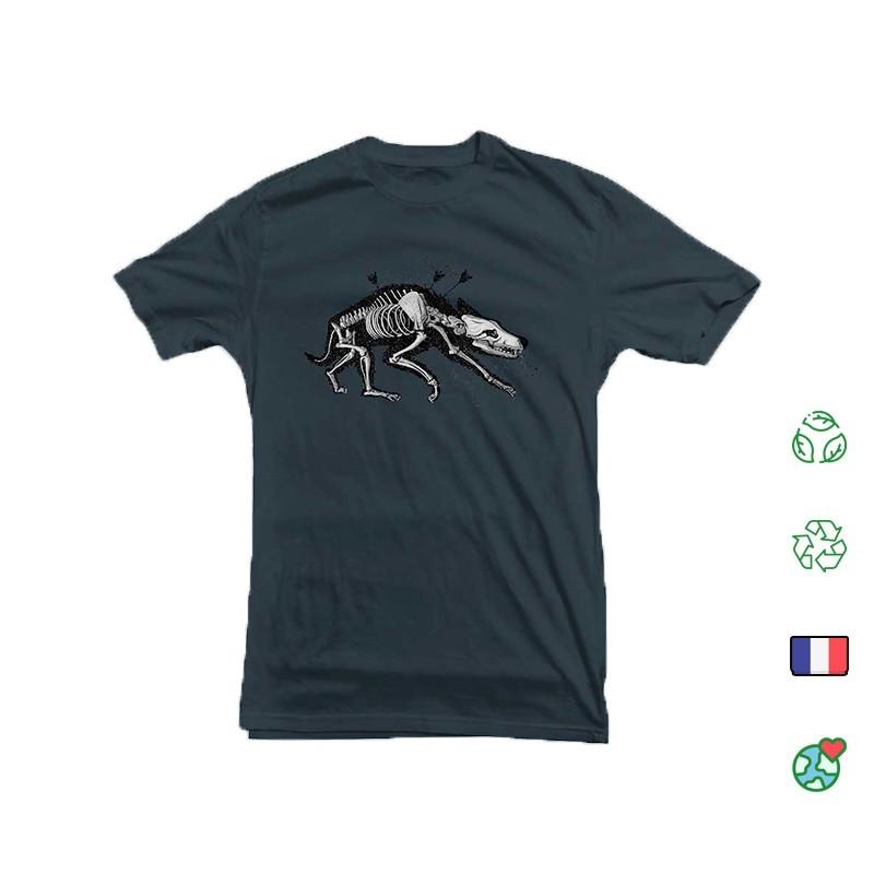 T Shirt Kosen Wolf Bleu Denim Face