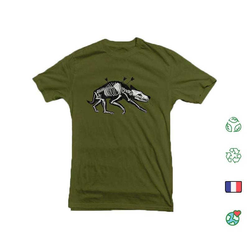 T Shirt Kosen Wolf Vert Forêt Face