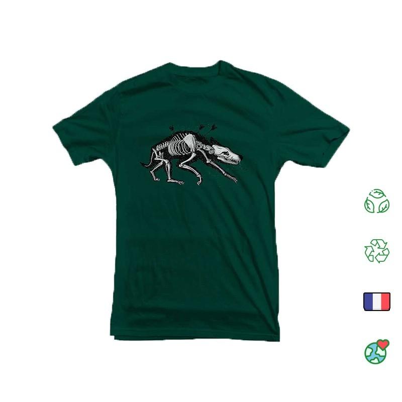 T Shirt Kosen Wolf Vert Bouteille face